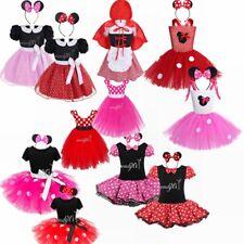 Cute Mouse Girls Kids Childs Childrens Minnie Mini Fancy Dress Costume Age 2-8