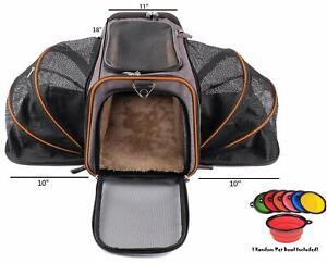 Pet Peppy Airline Approved 2-Side Expandable Pet Carrier - Gray or Dark Gray