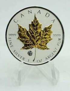 1 OZ Silber Maple Leaf Canada 2012 Privy F15 gilded Lagerräumung
