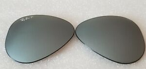 NEW Ray-Ban RB3025 / RB8307 / Flash Silver Mirror Aviator Replacement lens 58mm