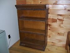Antique Hale Oak Barrister 3 Section Stacking Bookcase Mission Oak Quatersawn