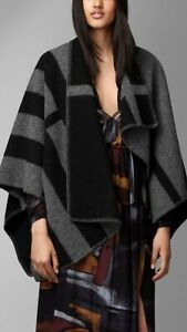 BNWT Burberry Prorsum classic Check Wool Cashmere Blanket Poncho Cape RRP895