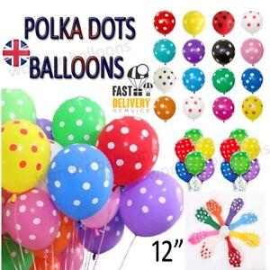 10 -100 Polka Dot Latex Helium Spotty Balloons Quality Party Birthday, Wedding
