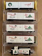 N Scale Bev-bel Christmas Box Car Caboose Special Run X Mas BBCX