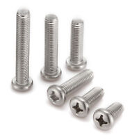 M3(3mm dia.) A2 304 Stainless Steel Philip Pan Head Machine Screws/Bolts