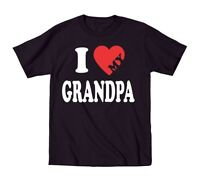 I Heart My Grandpa Cute Funny Outfit Baby Kids Gift Black Toddler T-Shirt