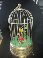 Alter Singvogelkäfig (Singing bird )mit 2 Vögeln !!! ca 1960 Video auf Anfrage