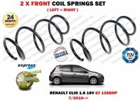 FOR RENAULT CLIO 1.6 GT 128BHP 16V 2010-> 2X FRONT COIL SPRINGS SET 540107678R
