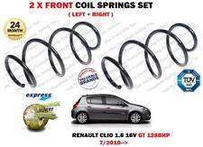 pour Renault Clio 1.6 GT 128bhp 16V 2010- > 2 x Ressorts hélicoïdaux avant Set