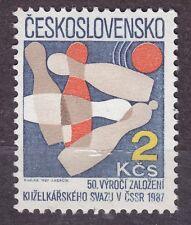 CZECHOSLOVAKIA 1987 **MNH SC#2641 Bowling Union, 50th Anniv.