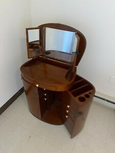 Starbay Vanity: Wood finished, Imported from France, Good Condition