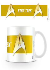 MUG CUP STAR TREK INSIGNIA BADGE YELLOW KIRK OFFICIAL 11OZ BOXED NEW CERAMIC