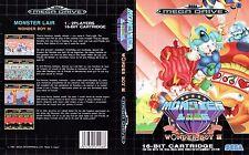 Chico maravilla 3 III Sega Mega Drive PAL Caja De sustitución Cubierta Estuche De Arte Insertar