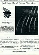 1950 Print Ad of York Archery Custom Target Bows of Yew & Osage Orange