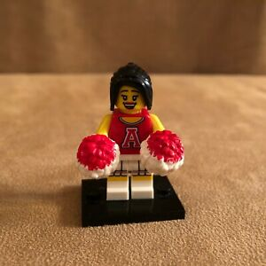 71001 Lego Cheerleader red pompoms Collectible Minifigure series 8 sports