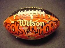 Wilson Ut Hook Em Horns Texas Ncaa Orange Black Football Good Condition