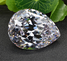 DAZZLING 30.08CT UNHEATED TOP WHITE SAPPHIRE PEAR SHAPE 16x22MM AAAA+ LOOSE GEM