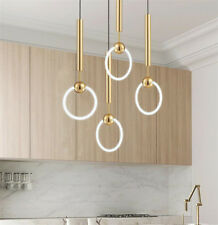 Ring Round Modern LED chandelier Glass Ceiling Light Gold Pendant Lamp Lighting