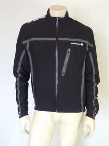 ENDURA Men's Black Reflective Cycling Jacket Size LARGE