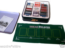 Texas Hold'em Poker Set  (2 decks of cards, dealer button, playing surface, chip