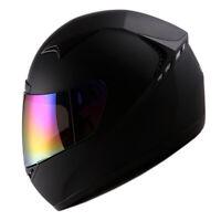NEW 1STORM DOT MOTORCYCLE STREET BIKE FULL FACE HELMET BOOSTER MATT BLACK HG335