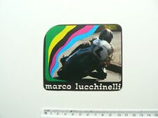 More details for marco lucchinelli vintage sticker - motorcycle racing - italy