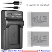 Kastar EN-EL14a Battery Charger for Nikon Coolpix P7000 P7100 P7700 P7800 D5100