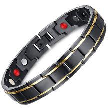 Anion Magnetic Energy Germanium Power Bracelet Health 4in1 Bio Armband TITANIUM