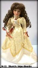"""Vintage collection porcelain doll, 16"""" with a stand"""