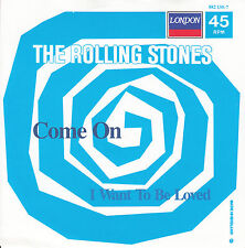 """ROLLING STONES  Come On & I Want To Be Loved SOLID SLEEVE 7"""" 45 rpm record NEW"""