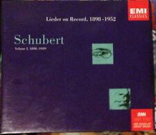 Schubert Lieder on Record 1898-1952: Vol. 1. 1898-1939 3CD Box Set EMI Classics