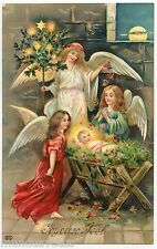 JOYEUX NOËL . L'enfant JESUS . Anges . Angels . MERRY CHRISTMAS