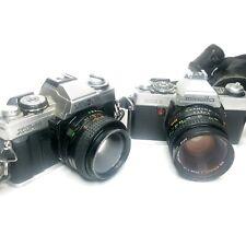 Vintage Minolta Camera Lot XG-M & XG 1 with Lens Bag & Accessories