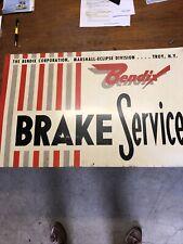 New ListingVintage original Bendix Brake Service Troy Ny advertising metal sign gas oil
