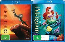 THE LION KING + THE LITTLE MERMAID Region Free [Blu-ray] Disney