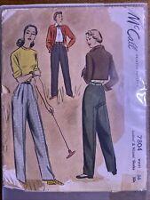 1940s Vintage Sewing Pattern McCall 7804 Sz 36 Volup