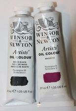 Winsor & Newton Oil Paint-MAGENTA & MARS BLACK-Series 2