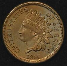 1860 Indian Cent:  Attractive, well-struck Mint State example