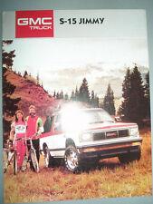 GMC S-15 Jimmy brochure 1987