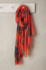 Anthropologie  Freshgarden Oblong Scarf new NWT red