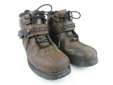Icon Super Duty 4 Leather Mens Boots Sz 8 Motorcycle Biker Work