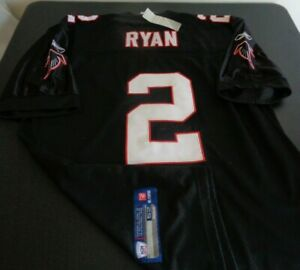 MATT RYAN Atlanta FALCONS Football REEBOK Sewn Size 52 Jersey NFL Black NEW