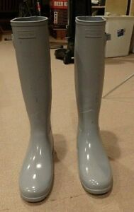 Dove Gray Hunter Refined Knee High  boots  Size 10 New with Defects