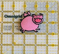 Flying Pink Pig Piglet Iron on Applique/Pig Farm Animals 🐷 Colorful