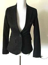 ZARA Women Black Blazer  Jacket size M  White BERSHKA