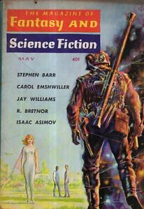 1961 Fantasy and Science Fiction May - Poltergeist; Mad Friend; Asimov;China Tea