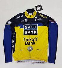 Sportful Saxo Tinkoff Bank Long Sleeve Men's Cycling Jersey Yellow Blue Size XL
