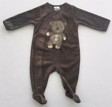 H&M Infant Baby Brown Bodysuit Cute Teddy Bear Art 2-4 Months NWT