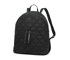 Kate Spade Nylon Quilted Large Backpack Karissa Black Tote Bag Wkru7054
