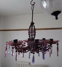 Gothic candle holder chanderlier style purple used read in full